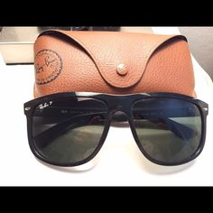 Rayban boyfriend glasses NWOT. Worn only a couple of times. All black, polarized. No scratches. Comes with case and cleaning cloth. Retail price of $200. Ray-Ban Accessories Sunglasses