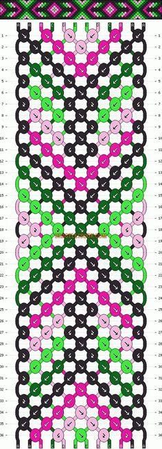 Normal friendship bracelet pattern added by kibell. Macrame Bracelet Patterns, Macrame Patterns, Bracelet Designs, Friendship Bracelets Tutorial, Friendship Bracelet Patterns, Bracelet Tutorial, Bracelet Knots, Bracelet Crafts, Bracelet Making