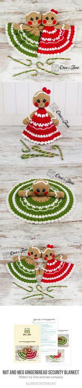 Nut and Meg Gingerbread Security Blanket crochet pattern