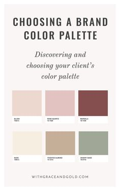 With Grace & GoldBrand Design: Choosing a Color Palette | With Grace & Gold