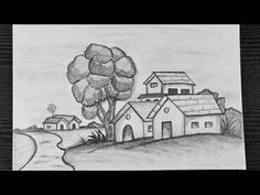 How To Draw Riverside Village Scenery || Nature Scenery Drawing Easy || Pencil Shading - YouTube Pencil Sketching, Pencil Shading, Riverside Village, Easy Drawings, Scenery, Shades, Youtube, Nature, Fictional Characters