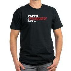 Faith in Humanity - Lost. Men's Fitted T-Shirt (dark)