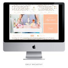 Emily McCarthy Branding | Fete Collection Custom Website | www.emilymccarthy.com #branding