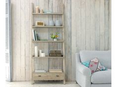 Our Tiger is a seriously cool ladder style shelving unit. It is hand made by our skilled craftsmen out of lovely beached timber.