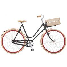 decovry.com - Roetz-Bikes | Road Transport Damesfiets 5 Versnellingen | Mat Zwart