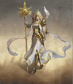 Might&Magic Heroes 7 - Offizielles Artwork - Haven Female Magic Hero