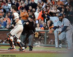 Buster Posey making quick work of Prince Fielder.