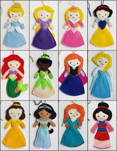 This is a reserved custom listing for Alison K for 12 Disney Princess finger puppets.