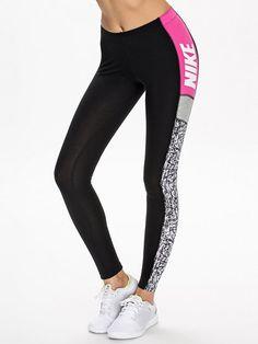 Club Leggings Colorblock - Nike - Patterned - Leggings - Clothing - Women - Nelly.com