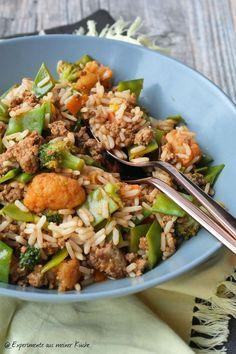 Schnelle Reispfanne mit Hackfleisch | Kochen | Rezept | Essen