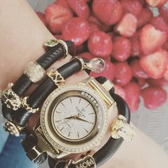 Time for strawberries. Christina Jewelry and Watches.