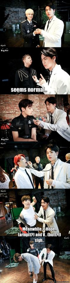 Jin The Doctor in action | allkpop Meme Center