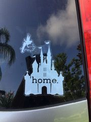 How often have you wished that you could live in a world ruled by the Mouse, filled with magic and song? Wear your heart on your ride with the 'Disney is my Home' car decal. Like your love for everything Disney, this decal will last for a long time and not crack or peel. This enchanting castle will remind you of the best days you've spent in the company of your favorite Disney characters, and will make you long for the next trip to the Magic Kingdom.