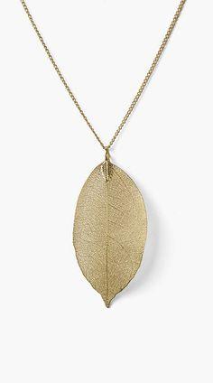 Golden Leaf Long Necklace
