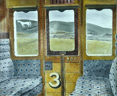 "Eric Ravilious, ""Train Landscape"" (1939)"