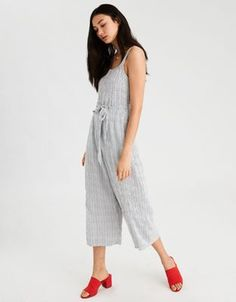 AE Easy Striped Jumpsuit by  American Eagle Outfitters | Straight-up amazing.Straight-up amazing. Shop the AE Easy Striped Jumpsuit and check out more at AE.com.