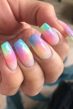 23 Colorful Nail Art Designs That Scream Summer – StayGlam - Page 2 23 bunte Nai Colorful Nail Art, Colorful Nail Designs, Cool Nail Designs, Summer Nail Designs, Rainbow Nail Art Designs, Marble Nail Designs, Marble Nail Art, Pretty Nail Art, Cool Nail Art