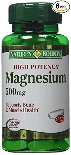 per tablet Promotes bone & muscle health Coated for easy swallowing Magnesium Supplements, Pills, The 100, Muscle, Health, Easy, Health Care, Muscles, Salud