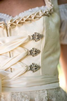 Bridal Dirndl with Semi-Sweetheart Neckline                                                                                                                                                                                 More