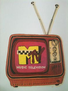 Old school mtv. When they played music videos. Mtv Music Television, Best Television Series, Composition Drawing, 80s Aesthetic, Vintage Tv, Vintage Graphic, Vintage Prints, Skateboard Design, 90s Kids