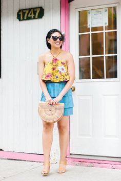 Top 5 Mini Skirts for the Summer, summer fashion, summer style, cult gaia ark bag