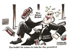 Cartoon: Secret Service On Duty