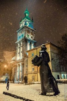 Monument to Ivan Fedoriv, Lviv