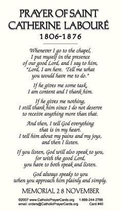Catholic Prayer Cards - St Catherine Laboure: