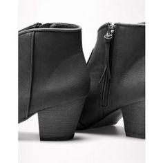 Bershka fekete cowboy stílusú bokacsizma - Shopping