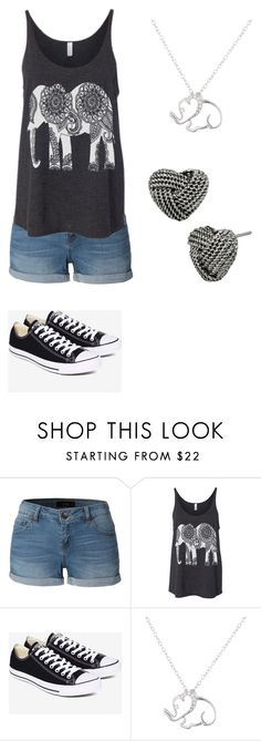 """Sophias Outfitt"" by olivia-weissman on Polyvore featuring LE3NO, Converse, Lord & Taylor and Betsey Johnson"