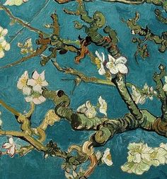 """detail of van gogh's """"almond tree"""" and its prettty :)"""