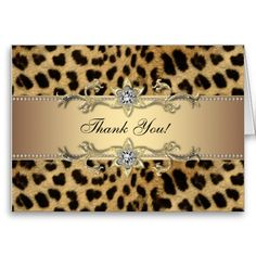 Shop Elegant Gold Leopard Thank You Cards created by The_Thank_You_Store. Personalize it with photos & text or purchase as is! Leopard Birthday Parties, 40th Birthday Parties, Birthday Party Invitations, Invites, 50th Party, Gold Invitations, Birthday Cards, Happy Birthday, Print Thank You Cards