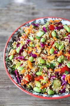 Quinoa Salad Asian Quinoa Salad Recipe A quick and healthy salad that is great for lunch or dinner.Asian Quinoa Salad Recipe A quick and healthy salad that is great for lunch or dinner. Best Quinoa Salad Recipes, Asian Quinoa Salad, Healthy Salads, Vegetarian Recipes, Healthy Eating, Healthy Recipes, Edamame Salad, Diet Recipes, Asian Salads