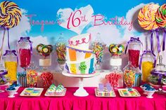 Teenage Dream Rainbow Sweet 16 :: Featured Party
