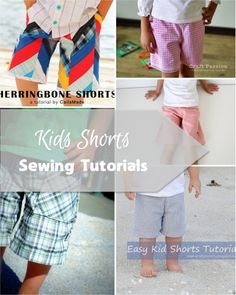 Great shorts tutorials to get your kids started on their summer wardrobes!
