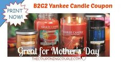 WOOHOO! B2G2 Yankee Candles! These make such awesome gifts! Remember, Mother's Day will be here before we know it! Grab jar or tumbler candles in awesome Spring and Summer scents!  Click the link below to get all of the details ► http://www.thecouponingcouple.com/bogo-yankee-candle-coupon-great-for-mothers-day/ #Coupons #Couponing #CouponCommunity  Visit us at http://www.thecouponingcouple.com for more great posts!