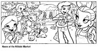 Fun coloring pages with fruit and veggie images! Take a trip to the farmer's market with the Super Crew!