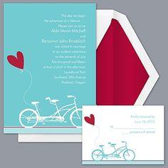 Bicycle Built For Two - Invitation