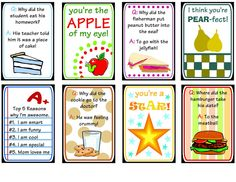 Lunch Box Printables - Darling Doodles...she has adorable printable cards for lunches...even for holidays! So cute!
