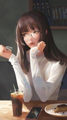750x1334 Cute, anime girl, artwork, breakfast wallpaper Manga Anime Girl, Cool Anime Girl, Art Anime, Anime Girl Drawings, Beautiful Anime Girl, Cute Anime Guys, Kawaii Anime Girl, Beautiful Beautiful, Cartoon Girl Images