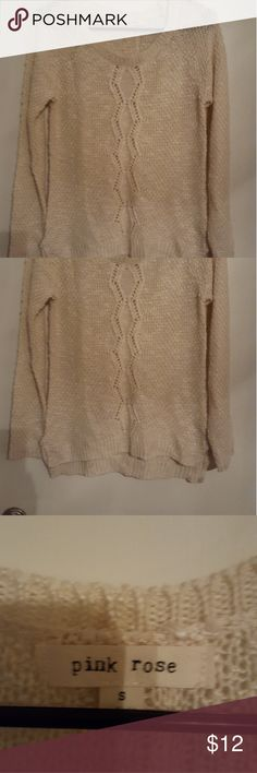 PINK ROSE CREME SWEATER. PINK ROSE CREME SWEATER.  Used,  size small. PINK ROSE Sweaters Crew & Scoop Necks