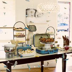 Globe-trotting Birthday Food Table