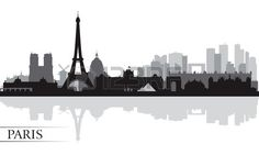 Paris city skyline silhouette background | Vector illustration