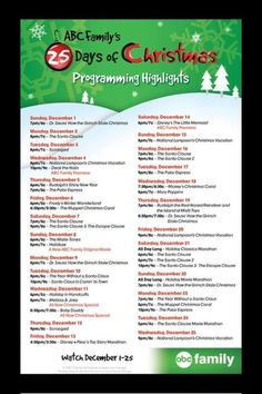 Abc family 25 days of Christmas 2013