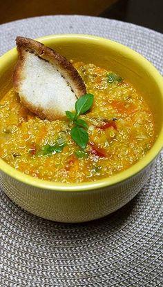 Sopa de Quinoa Vegana e Sem Glúten - Aloka do Bicho