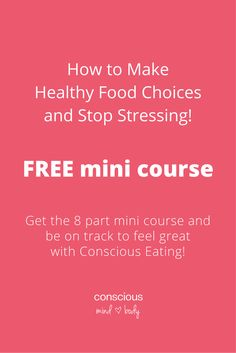 Get your FREE mini course today and finally get long term relief from emotional eating. You can learn to work with food cravings, confusion about what you need to eat well and have a peaceful relationship with your body. You can also stop dieting and still enjoy food while reaching your goals.