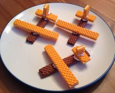 Wafer Cookie Airplanes - Planes Movie Night Food - Disney Movie Night