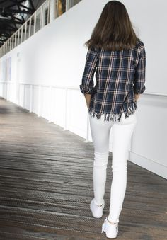 Guaranteed to make passers-bys do a double take, this vintage inspired flannel tartan shirt gives the classic plaid shirt a fresh cool look. Tartan Shirt, Plaid, Shirt Blouses, Shirts, Black Rock, White Jeans, Vintage Inspired, Flannel, How To Look Better