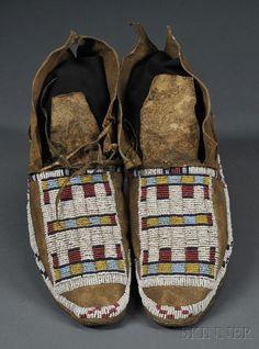Cheyenne moccasins 19th century.