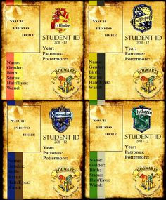 Hogwarts student IDs. Hogwarts student IDs. The Effective Pic - Harry Potter World, Harry Potter School, Harry Potter Classroom, Mundo Harry Potter, Harry James Potter, Harry Potter Fandom, Harry Potter Hogwarts, Harry Potter Memes, Potter Facts